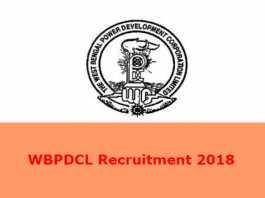 WBPDCL Recruitment 2018
