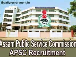 APSC Recruitment 2018