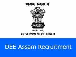 DEE Assam Recruitment 2020