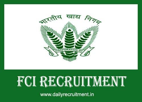 FCI Recruitment 2020