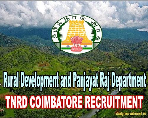 TNRD Coimbatore Recruitment 2021