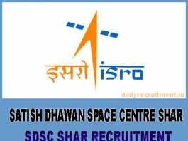 SDSC SHAR Recruitment 2019
