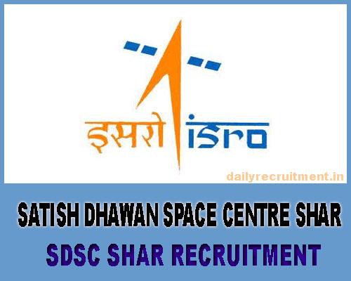 SDSC SHAR Recruitment 2018