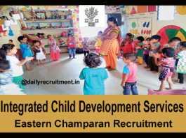 ICDS East Champaran Recruitment 2018