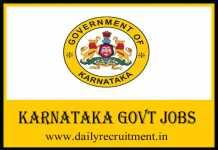 Karnataka Government Jobs 2019