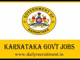 Karnataka Government Jobs 2019