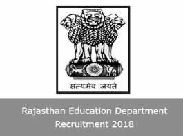 Rajasthan Education Department Recruitment