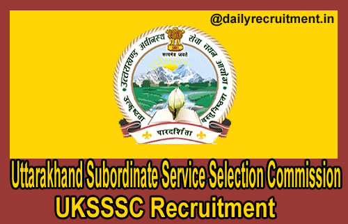 UKSSSC Recruitment 2020