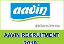 AAVIN Recruitment 2018