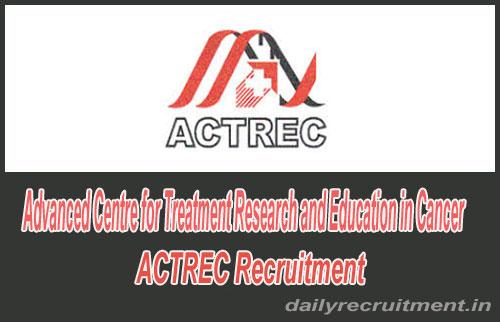 ACTREC Recruitment 2020