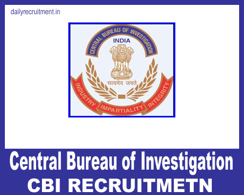 CBI Recruitment 2019, 60 Inspector Vacancies, Apply @ cbi gov in