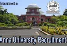 Anna University Recruitment 2019