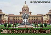 Cabinet Secretariat Recruitment 2018