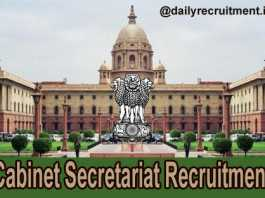 Cabinet Secretariat Recruitment 2020