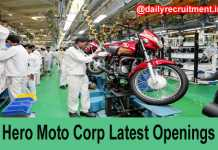Hero Moto Corps Job Openings