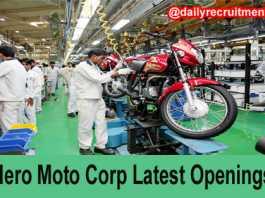 Hero Moto Corps Job Openings