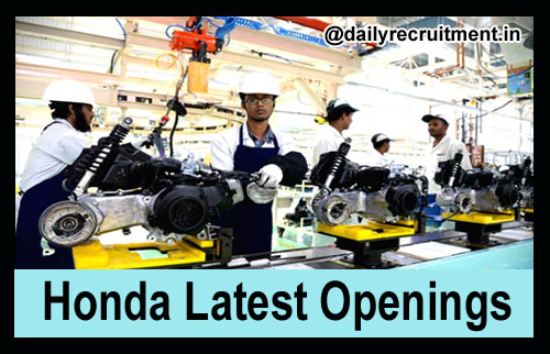 Honda Two Wheelers Openings 2018