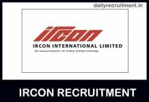 IRCON Recruitment 2019