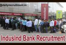 IndusInd Bank Recruitment 2018