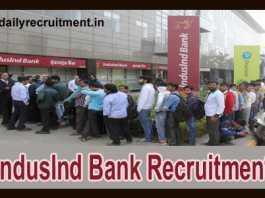 IndusInd Bank Recruitment 2018