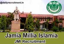 Jamia Millia Islamia Recruitment 2019