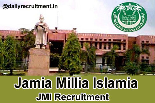 Jamia Millia Islamia Recruitment 2018