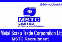 MSTC Recruitment 2018