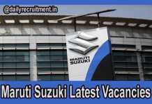 Maruti Suzuki Current Openings
