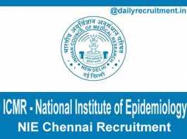 NIE Chennai Recruitment 2020
