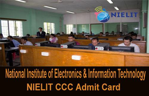 NIELIT CCC Admit Card 2019