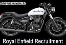 Royal Enfield Recruitment 2018