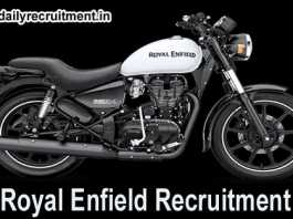 Royal Enfield Recruitment 2018
