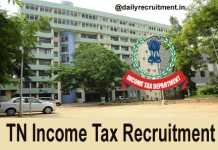 TN Income Tax Recruitment 2018