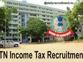 TN Income Tax Recruitment 2018