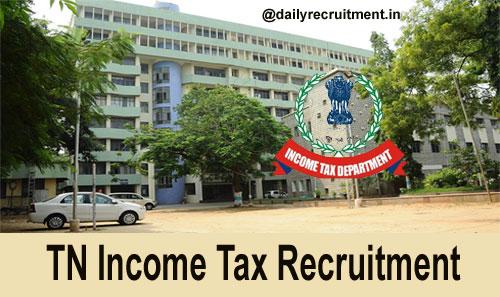 TN Income Tax Recruitment 2019