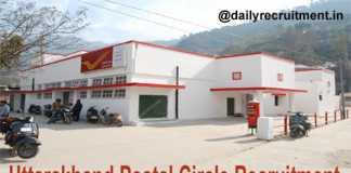 Uttarakhand Postal Circle Recruitment 2018