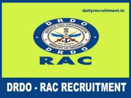 DRDO RAC Recruitment 2018