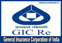 GIC Recruitment 2019