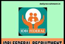 IDBI Federal Recruitment 2018