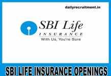SBI Life Insurance Jobs 2019