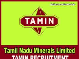 TAMIN Recruitment 2018