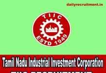 TIIC Recruitment 2019
