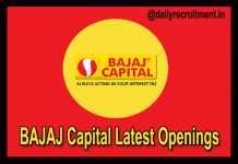BAJAJ Capital Recruitment 2018