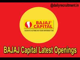 BAJAJ Capital Recruitment 2018