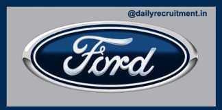 Ford India Recruitment 2018