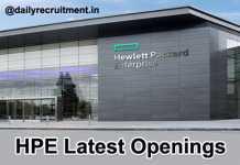 HPE Careers Notification 2019