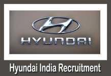 Hyundai India Recruitment 2019