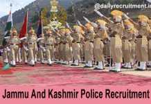 JK Police Recruitment 2019