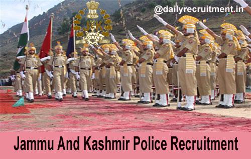 JK Police Recruitment 2020