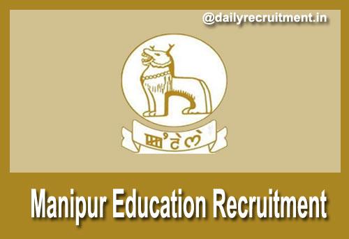 Manipur Education Recruitment 2018